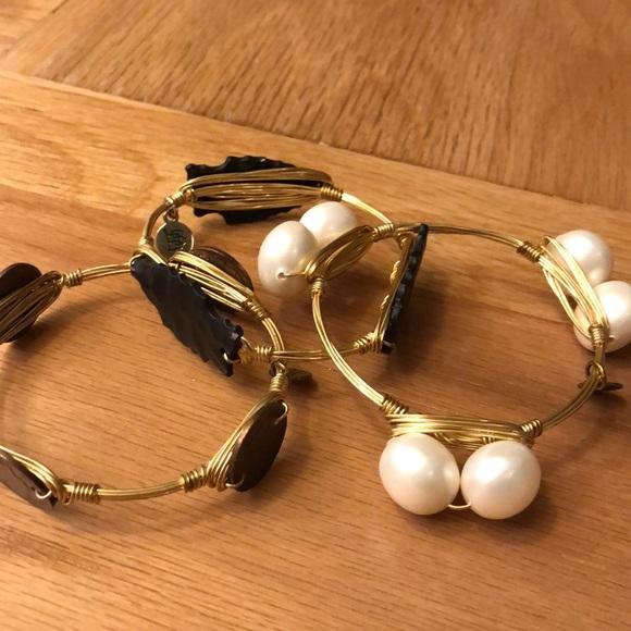 Bourbon and Bowties Jewelry - Bourbon & Bow ties bangles x 3